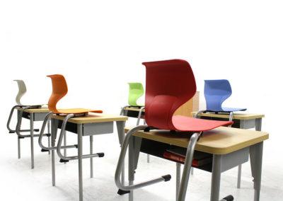Mobilier scolar - Setul de mobilier scolar Matte Wave