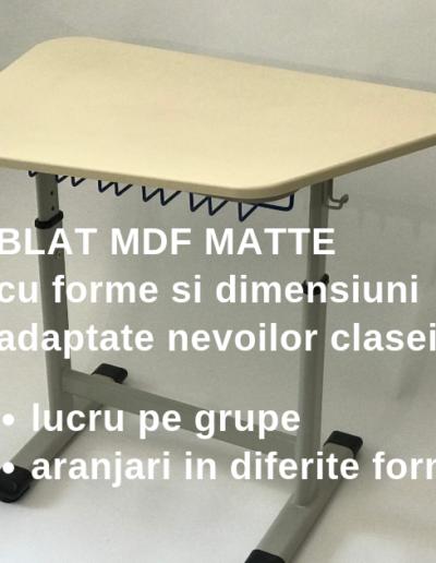 Mobilier scolar Smart Kids cu blat MDF MATTE