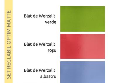 Culori ale blatului de Werzalit - Optim Matte